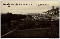 MONFORTE DE LEMOS. VISTA GENERAL. POSTAL FOTOGRAFICA #lugo #monforte #postal #antigua #fotografica