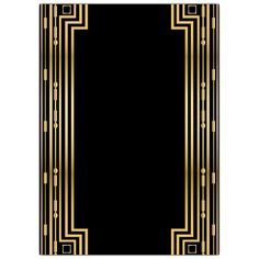 Gatsby Gold Wedding Gatefold Invitations | PaperStyle