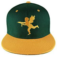 Gold on Green Lost Angels  amp  Kings Cupid Snapback Hat   lostangelsandkings  snapback   4016c60730ed