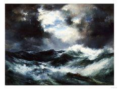 Moonlit Shipwreck at Sea Thomas Moran (1837-1926), 1901 Giclee Print by Thomas Moran at Art.com