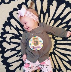 5 months old today! Charley has started trying food rolling over has major FOMO and becoming very opinionated. #charleylizabethbarron #babyBARRONess