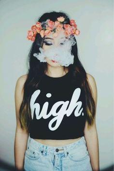 tumblr girls hipster hair smoke