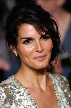 Angie Harmon...I love her dark features.  I definitely have a girl crush!