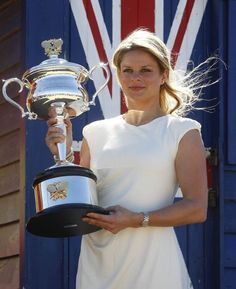 Kim Clijsters, Belgium, tennis star.  Photoshoot at Melbourne's Brighton Beach after Australian Open March 2012 against Na Li 3-6  6-3  6-3.