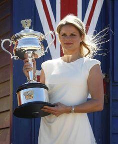 Kim Clijsters, Belgium, tennis star. Photoshoot at Melbourne's Brighton Beach after Australian Open March 2012