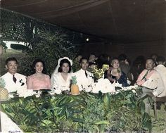 Charles and Amy Akina Wedding Reception, Hawaii December 1, 1946