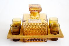 Vintage Scotch and Gin Decanter Set by BrightWall on Etsy, $54.00