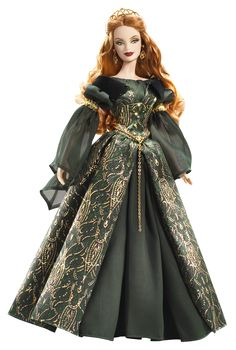 Áine Barbie® Doll- Beautiful Irish doll! Her hair is gorgeous and so is her gown!