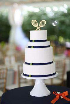 #80 #Saint Louis #Missouri #Wedding #Reception #Cake #Tennis