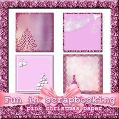 Welkom bij Creative Scrapmom: Fun in Scrapbooking 4 pink christmaspapers