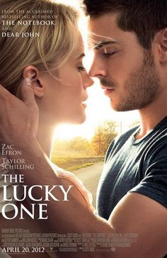 "The Lucky One - Zac Efron stars in the movie based on Nicholas Sparks' novel. ""The Lucky One"" was the first & only Nicholas Sparks novel that I've read. I missed seeing the movie. I plan to read all Nicholas Sparks novels. Beau Film, See Movie, Movie Tv, 2012 Movie, Movie List, The Lucky One Movie, Querido John, The Notebook, Chick Flicks"