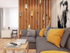 Studio Living, New Living Room, Condo Interior, Interior Design, Small Rooms, Small Spaces, Floating Platform Bed, Small House Design, Room Decor