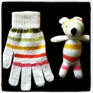 Use those old gloves that you've lost the other of the pair and make them into a stuffed animal!