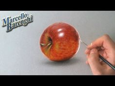 Realistic drawing - how to draw an apple - YouTube