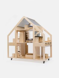 The ultimate super-sized dolls house!  Measuring nearly 1.3m in height, it is taller than most kids!  It opens on all sides and is designed to be played with by many kids at once. And we love that it comes on wheels so it's easy to move from room to room.