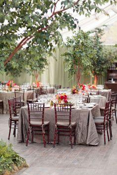Aspen wedding reception.  Design by Lisa Vorce and Mindy Rice.  Photos by Aaron Delesie