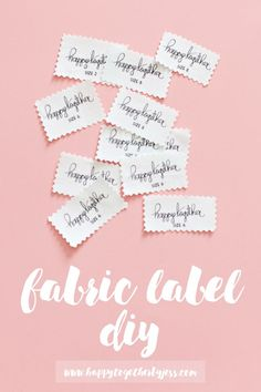 Fabric Label DIY : an easy way to make labels for your sewing creations. I have been using this method for years and its my favorite label diy hands down.   happy together