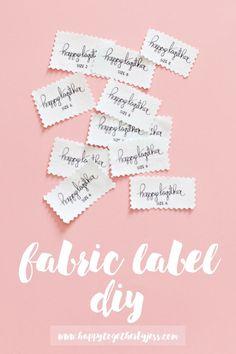 Fabric Label DIY