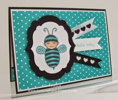 Stampin' Up! UK Demonstrator - Teri Pocock: Bermuda Bay - Baby Bumblebee