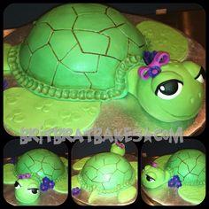 Turtle Baby Shower Cake  By: Brittney Mitchell      BritBratBakes.com