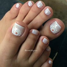 30 Fotos de Unhas dos pés decoradas com flores Beauty Make Up, Diy Nails, Hair And Nails, Nail Designs, Nail Art, 30, Hair Styles, Water, Ideas
