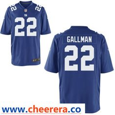 59d95628c Men's New York Giants #22 Wayne Gallman Royal Blue Team Color Stitched NFL  Nike Game