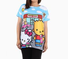 SOLD OUT -- The Simpsons x Hello Kitty Boxy Tee