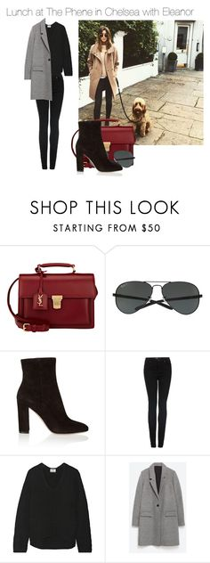 """""""Sin título #700"""" by amandasets ❤ liked on Polyvore featuring Calder, Yves Saint Laurent, Ray-Ban, Gianvito Rossi, Topshop, Acne Studios and Zara"""