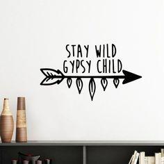 WILD CHILD // gypsy wall decal
