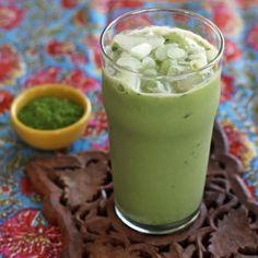Matcha Powder Green Tea Vanilla Latte | artfuldishes.com