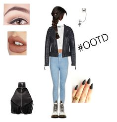 """Outfit Of The Day"" by dreambreatherbb ❤ liked on Polyvore featuring Hanro, Topshop, Goldie, Dr. Martens, The Limited, Rebecca Minkoff, DANNIJO, Charlotte Tilbury and With Love From CA"