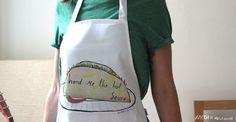 Hand me the hot sauce apron via Etsy claire