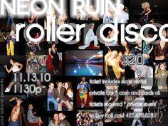 NEON RUIN roller disco 2010 - PROMO FLYERS by paul sabovik presents, via Flickr  FB: https://www.facebook.com/paulspresents