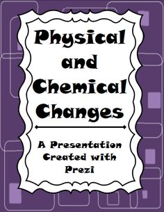Science Presentation on Physical and Chemical Changes.