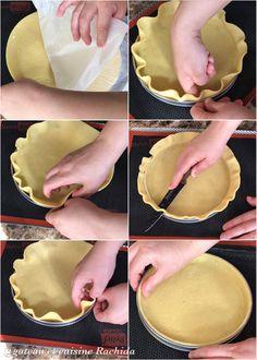 Apprenez à foncer des fonds de tartes avec de la pâte sucrée ou pâte sablée pas à pas en images et en video .