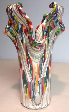 Monumental Reaction Impressive Fused Glass Drape by CGDbyMeryl, $700.00