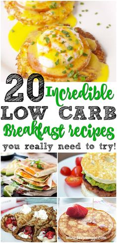 Enjoy 20 delicious breakfast recipes that are all low carb and keto friendly! #breakfast #lowcarb #keto