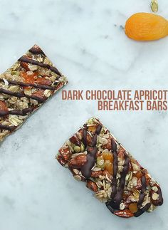 These Dark Chocolate Apricot Breakfast Bars Are The Perfect Healthy Snack