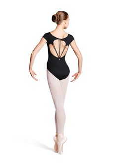 Mirella Ladies Loop Back Cap Sleeve Leotard