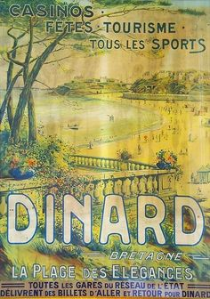 Vintage Images, Vintage Posters, Brittany France, Retro Illustration, Old Ads, Vintage Travel, Travel Posters, Designs To Draw, Photos