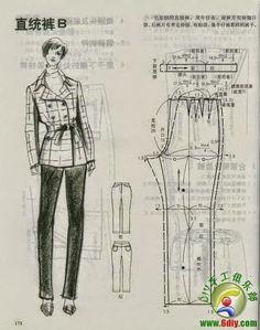 cin pants dress patterns making) - modelist kitapları Japanese Sewing Patterns, Modelista, Pants Pattern, Fabric Painting, Pattern Making, Dress Patterns, Dress Pants, Trousers, Couture