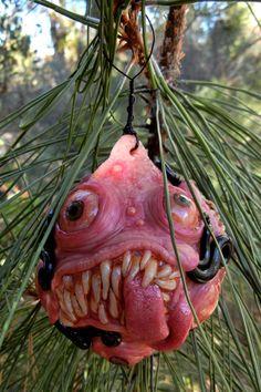 Creepy Christmas ornament by dogzillalives on Etsy