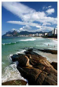 Arpoador Rocks, Rio de Janeiro, Brazil  My friend lives here...need to pay him a visit. Maybe Carnival next year