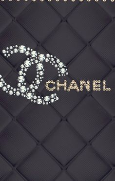 Chanel wallpaper Black and silver