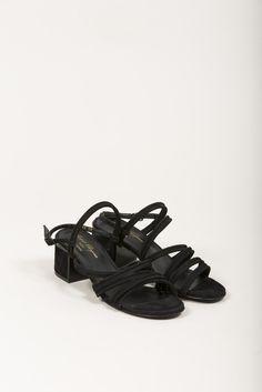 Eolia Heeled Sandal, Black by Robert Clergerie #kickpleat #robertclergerie