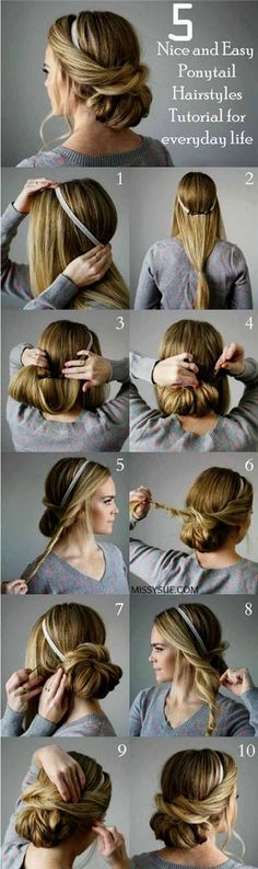 Cool Looking for some nice and easy ponytail hairstyles idea? We are here with five nice and easy ponytail hairstyles. Ponytails are casual but if designed properly, it can be trendy as other fancy hairstyles. Though in this article dedicated to nice and easy ponytail hairstyles ..