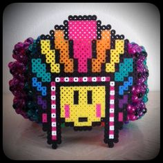 Colossal P.L.U.R. Warrior Kandi Cuff by KandiiRave on Etsy, $40.00