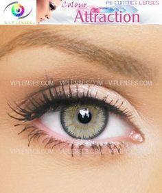 73e2e0e76 Color Attraction Amber Contact Lenses | VIP Lenses Green Contacts Lenses,  Color Contacts, Grey