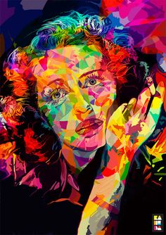 Abstract Colors is apersonal illustration project of Alessandro Pautasso, aka Nosurprises.  Greta Garbo