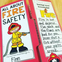 """This """"Fire Safety"""" lap book teaches young children about fire prevention and the role firefighters play in our safety at school and at home. It includes key words, interactive features, and opportunities to respond in writing. Native American History, American Civil War, British History, Fire Prevention Month, Women In History, Ancient History, School Safety, Fire Safety, American Revolution"""